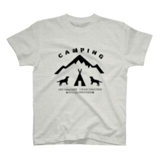 CAMPING 黒 T-shirts