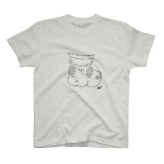 焼き餃子犬(モノクロ) T-shirts
