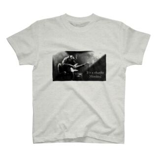 ギターと猿 T-shirts