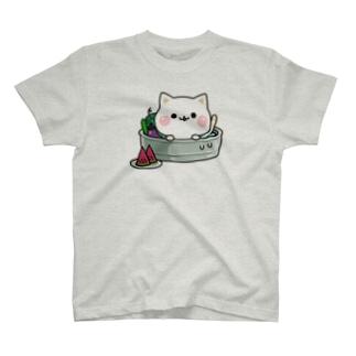 気づかいのできるネコ 夏ver.  T-shirts