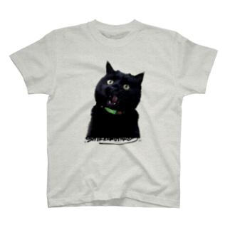 漆黒太郎【地の色注意:淡い色推奨】 T-shirts