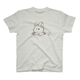 ラフ画うさぎ T-shirts