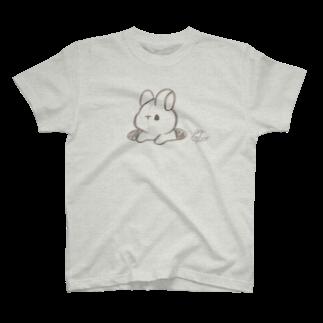 くぅもんせのお店のラフ画うさぎ T-shirts