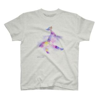クジラ_シルエット(ピンク) T-shirts