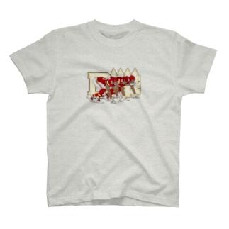ディフェンスライン赤 T-shirts