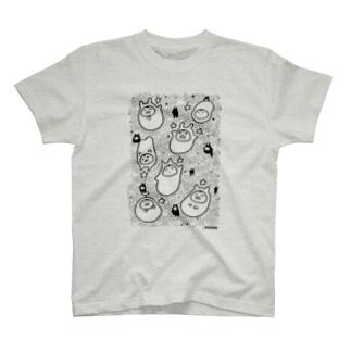 星とやるきないもの(大小おりまぜ) T-shirts