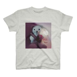くま(チェーンソー) T-shirts