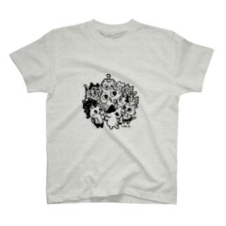 子ネコにまみれる猫Tシャツ T-shirts