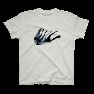 ヘルミッペ_hermippeの転び犬 T-shirts