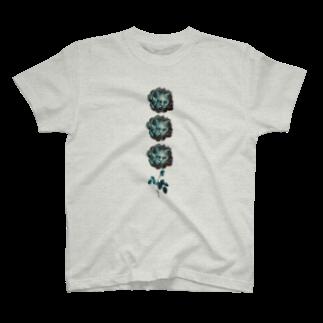 momonemukoのお花猫 T-shirts