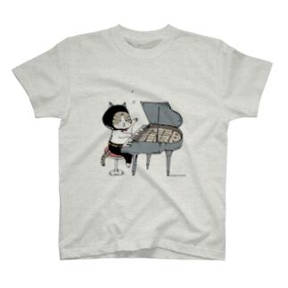 ピアノねこ T-shirts