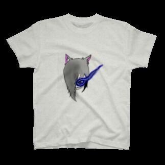 市イラストグッズショップの獣skull T-shirts