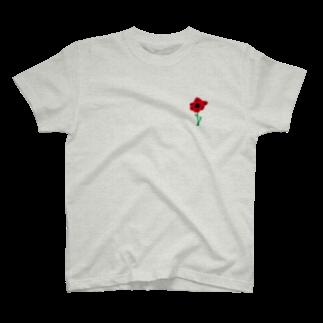 さとやま図案のアネモネ T-shirts