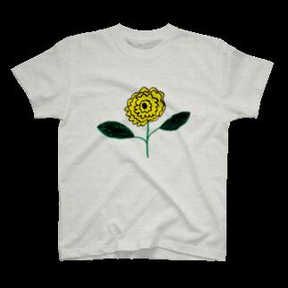 さとやま図案の変わったひまわり T-shirts