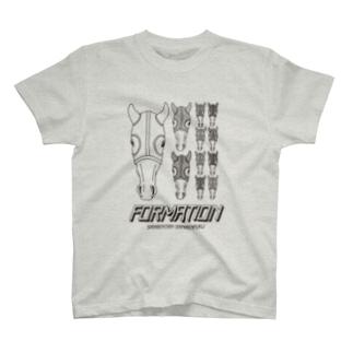 フォーメーション当たれ(BLACK LINE) T-shirts