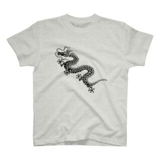 昇り龍(黒) T-shirts