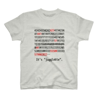 """It's """"jugglable""""白 T-shirts"""