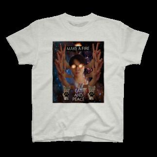 TENSAI_NINGENのCAT AND PEACE T-shirts