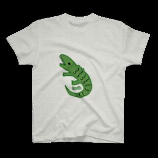 サオリリリの【ゆる動物シリーズ】ワニさん T-shirts