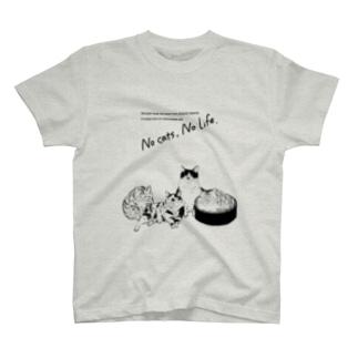 ねこ人生 T-shirts