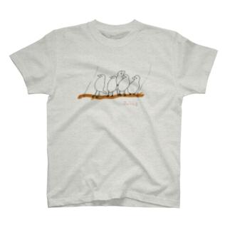 鳥←ぶらんこブンブン T-shirts