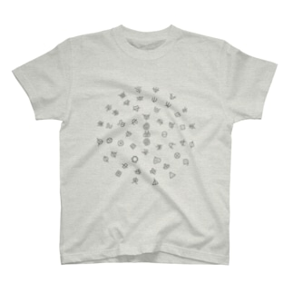 フトマニ (グレー) T-shirts
