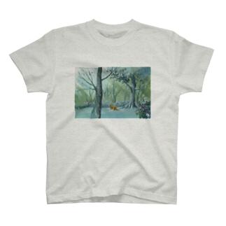 雪の足跡 T-shirts
