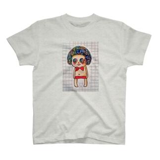 おしゃれしたおんなのこ T-shirts