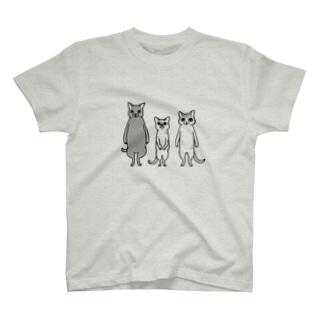ねこトリオ T-shirts