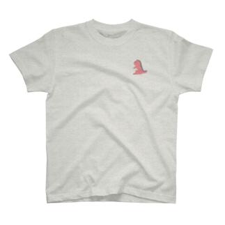ドット怪獣 1匹 ピンク T-shirts