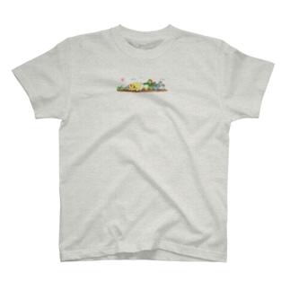 大きな大きなオカメ T-shirts