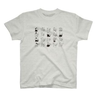 ネズミの一服 いっぱいバーション T-shirts