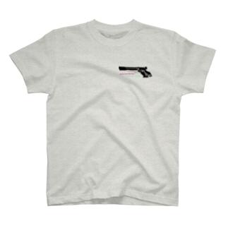 精密射撃・APS 大好き! ハート柄 T-shirts