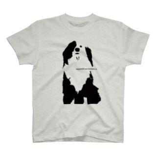 片パンダのボーダーコリーMIX T-shirts