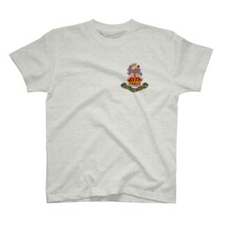 うさぎエンブレム<クラウン> T-shirts