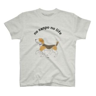 おさんぽビーグル T-shirts