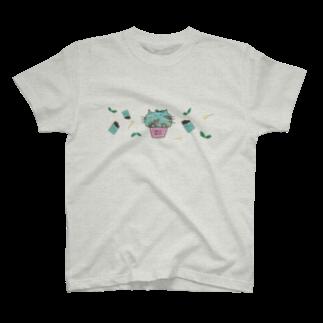 ZERO*のチョコミントにゃんこSP T-shirts