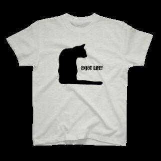 猫と釣り人のT-shirts
