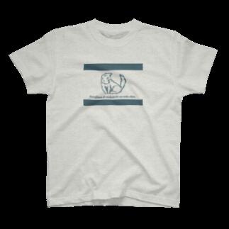 チワワの工房のふわもこねこちゃん (線あり) T-shirts