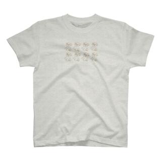 いぬはぴ(整列) T-shirts
