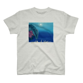 hibiscus moon T-shirts