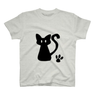 安定感企画 イラスト編No.1 黒猫 T-shirts