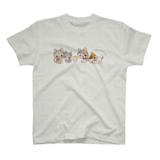 にゃんこ横並び T-shirts