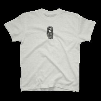 フクハラアキコの妖怪アマビエ 黒 T-shirts