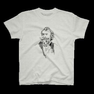 音楽愛好家協会「こんごう」 の【ブラームス】-ブラック T-shirts