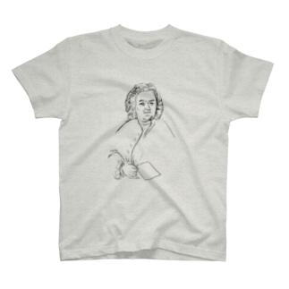 【バッハ】-ブラック T-shirts