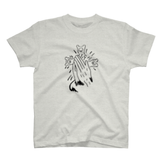 Alternative-Spaceの合掌たぬき T-shirts