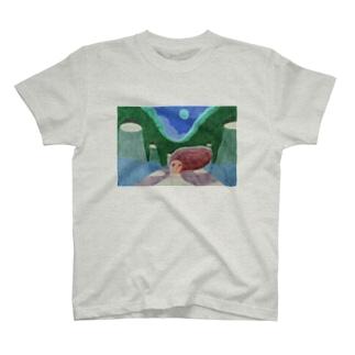 夜の散歩道 T-shirts