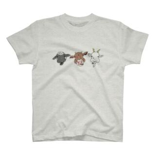 反芻中のどうぶつたち T-shirts