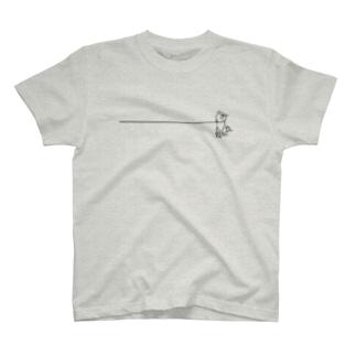 イヤイヤ柴犬(白柴) T-shirts